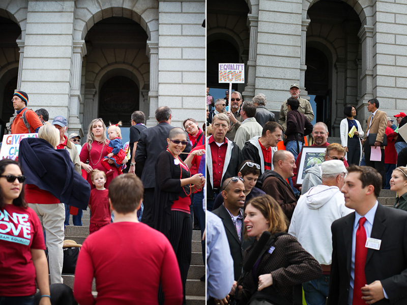 photo of civil union supporters in Denver